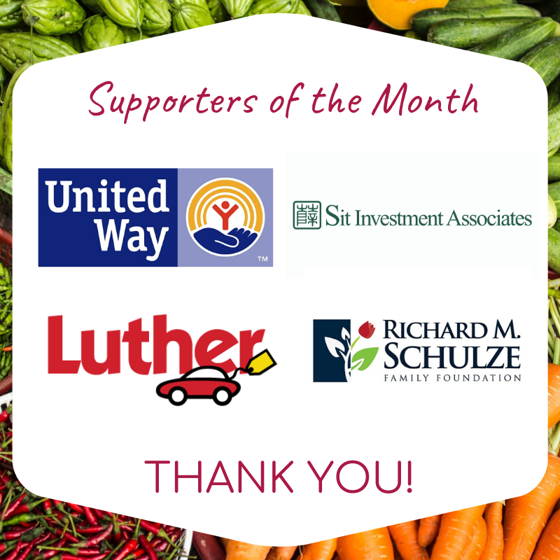 Graphic with Supporter of the Month logos